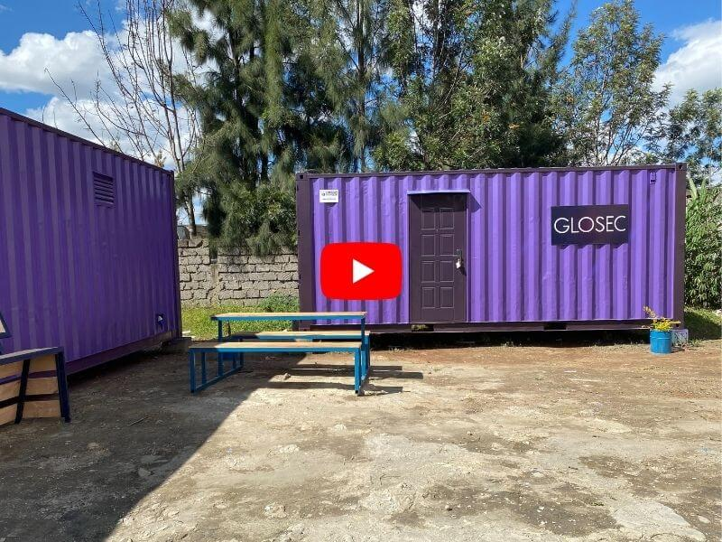 Office container and storage container tour