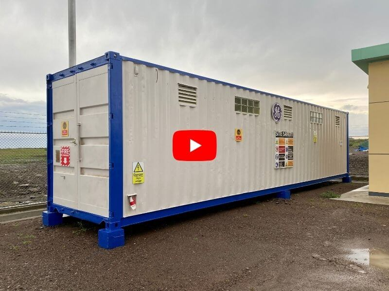 40ft Container Tools showroom and storage