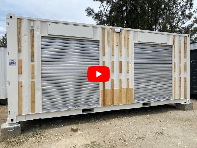 20ft container two stalls