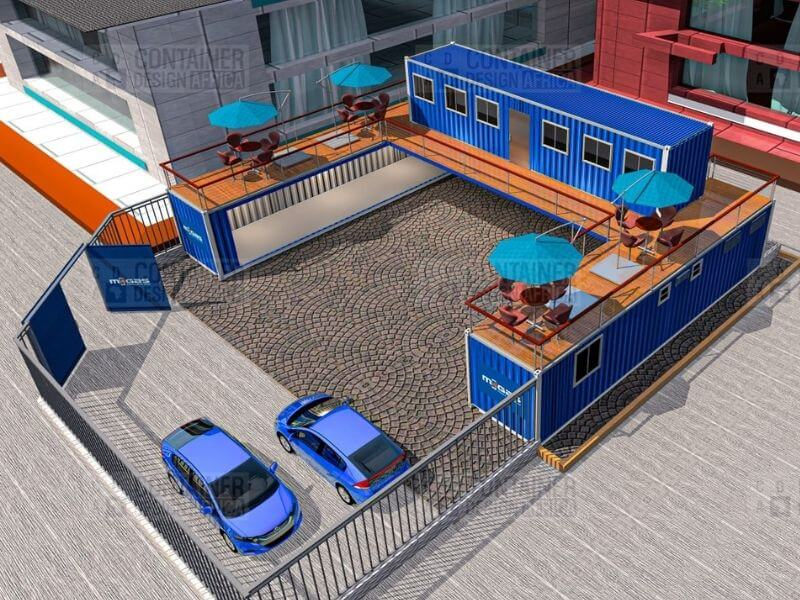 2 storey container gas depot with multiple decks